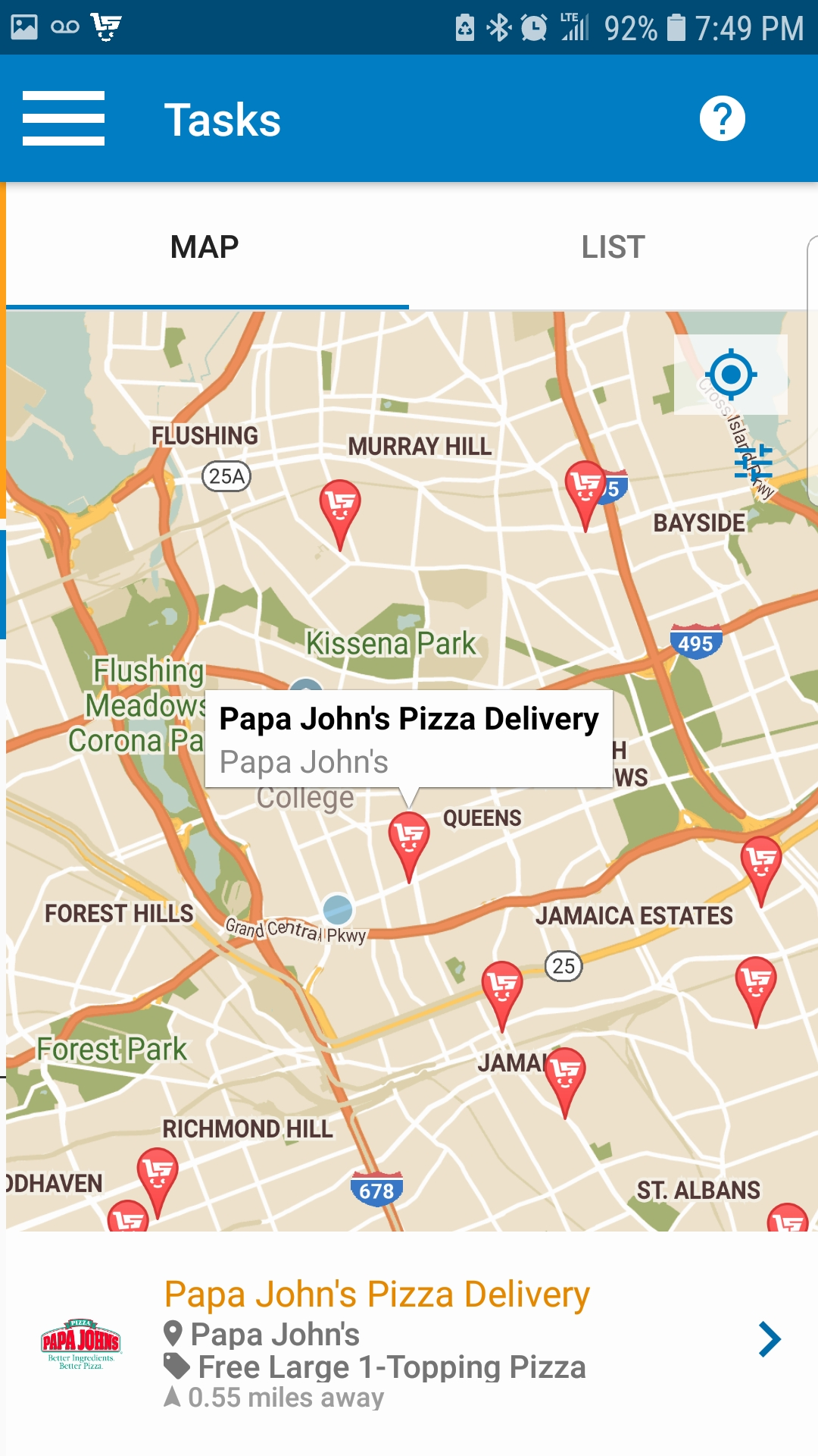 Populated Map Of Deals | Live Shopper | Android App Review | GiveMeApps